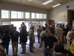 Close to 200 local residents of Tillamook County turn out for a public open house in Pacific City, Ore., where the first undersea cable was installed for the OOI program.