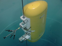 A look at a Wire Following Profiler similar to what will be used for the coastal and global scale nodes component of the Ocean Observatories Initiative. (Photo Courtesy of McLane Research Laboratories)