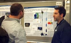 Dr. Jonathan Fram, OOI Associate Systems Engineer from Oregon State University, describes new OOI platforms at the 2012 Ocean Sciences Meeting in Salt Lake City, Utah. (Photo Credit Megan Gibney)