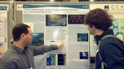 Dr. Michael Vardaro, OOI Associate Project Scientist from Oregon State University, explains his poster at the 2012 Ocean Sciences Meeting in Salt Lake City, Utah. (Photo Credit Megan Gibney)