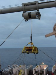The Ocean Observatories Initiaive (OOI) Regional Scale Nodes (RSN) Primary Node 3B was launched from the aft deck of the cable installation ship the TE SubCom Dependable on Aug. 18, marking deployment of the seventh, and final, node installation on the OOI RSN cabled infrastructure.