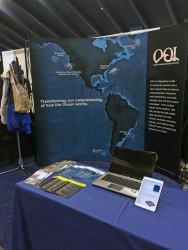 OOI Booth in the AGU Exhibit Hall.  (Credit: OOI PMO Communications)